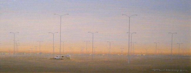 """""""Toledo"""" Oil on panel 5 7/8"""" x 14 1/8"""""""