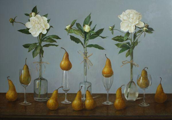 """""""Florilegium"""" Oil on linen mounted on panel 40"""" x 52"""","""