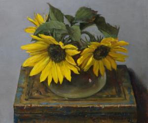 """""""Sunny Tea"""" Oil on canvas 9 1/8"""" x 10 3/4"""""""