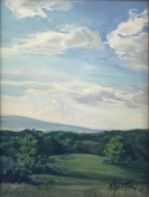 """""""Flint Hill"""" Oil on linen covered panel 16"""" x 12"""""""