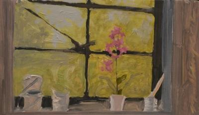 Still Life in Studio Window, Tom Mullany