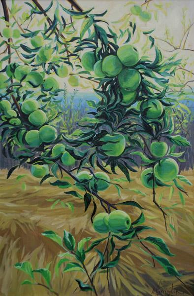 """Apple Bough"" Oil on canvas 36"" x 24"""