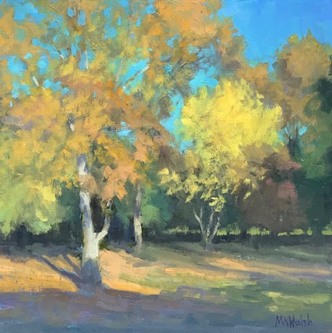 Autumn Glow, 12x12, oil, .jpg
