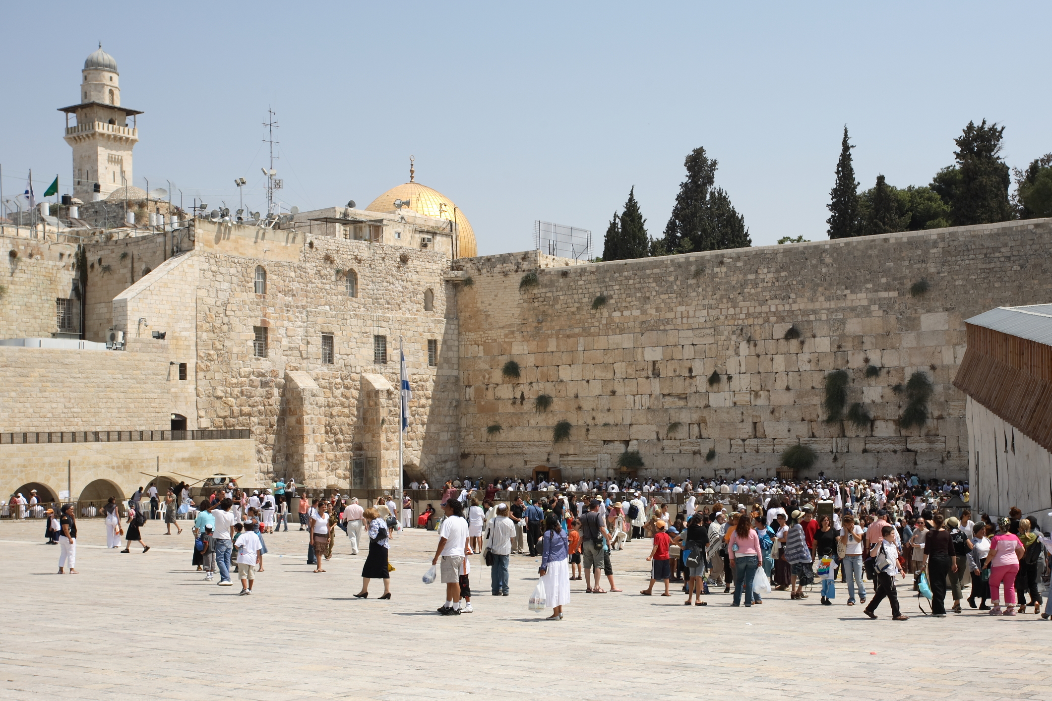 The Wailing Wall (also known as the Western Wall) in Jerusalem