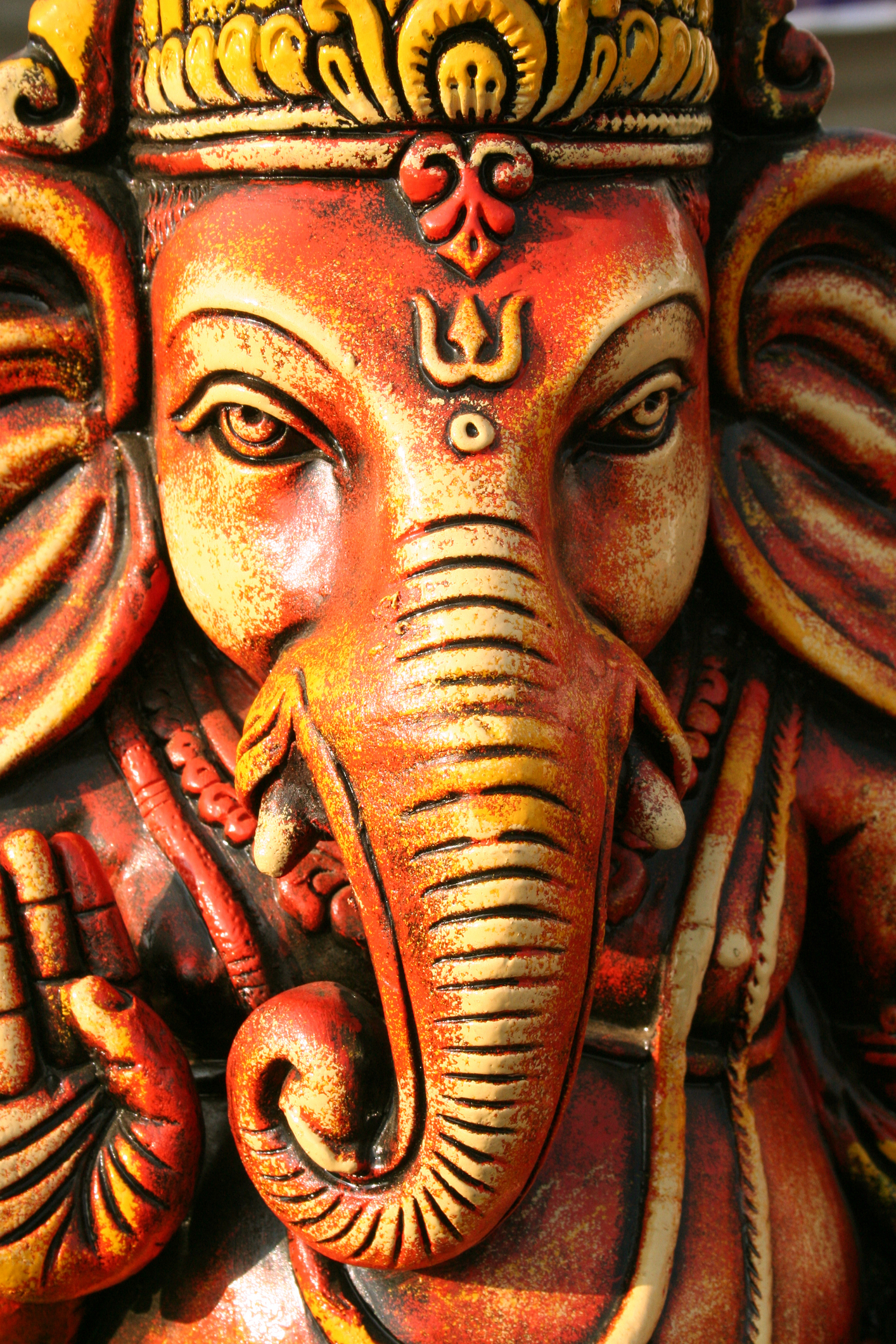 The god Ganesh, the bringer of good luck and remover of obstacles