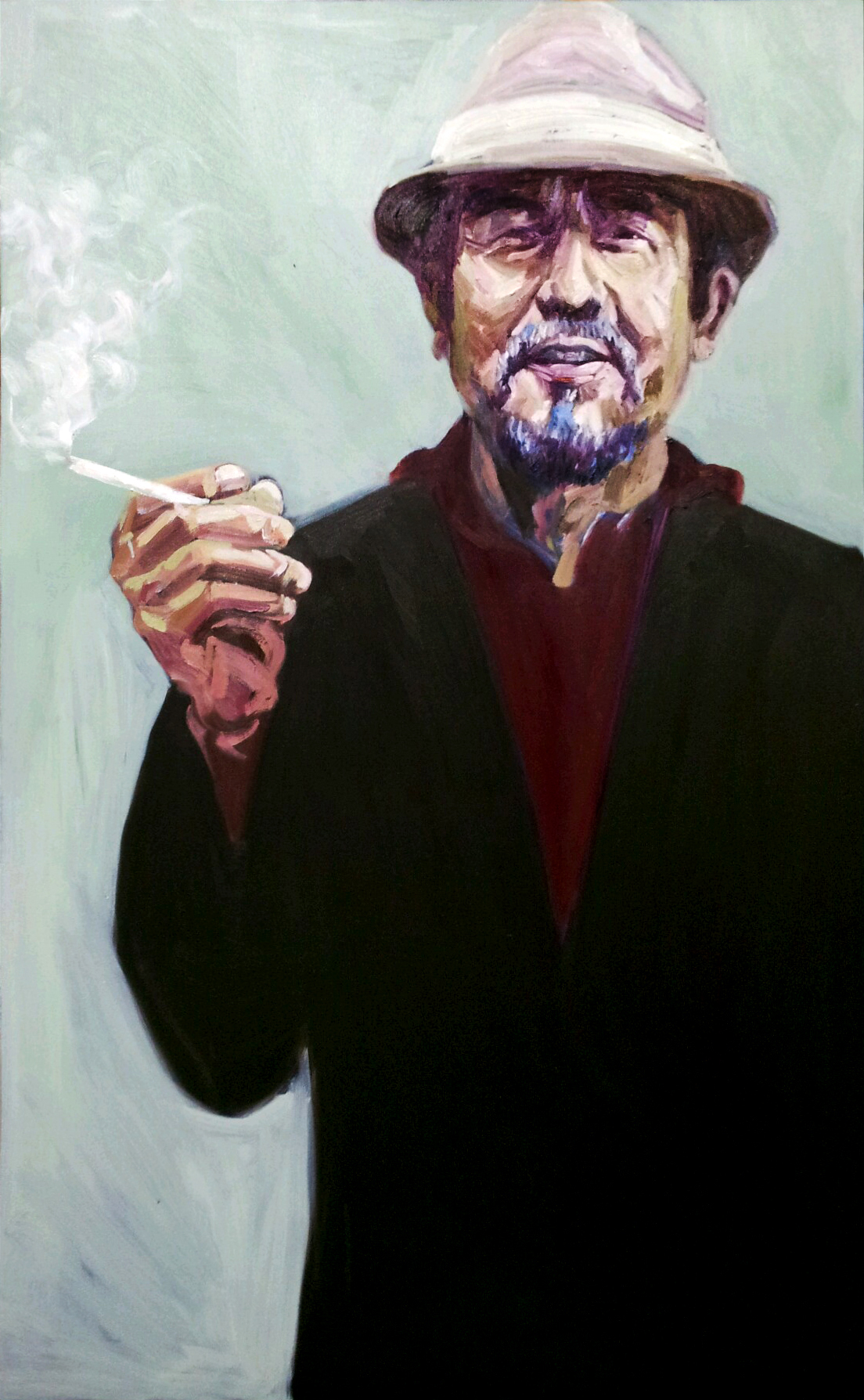 """The man with the cigarette"""