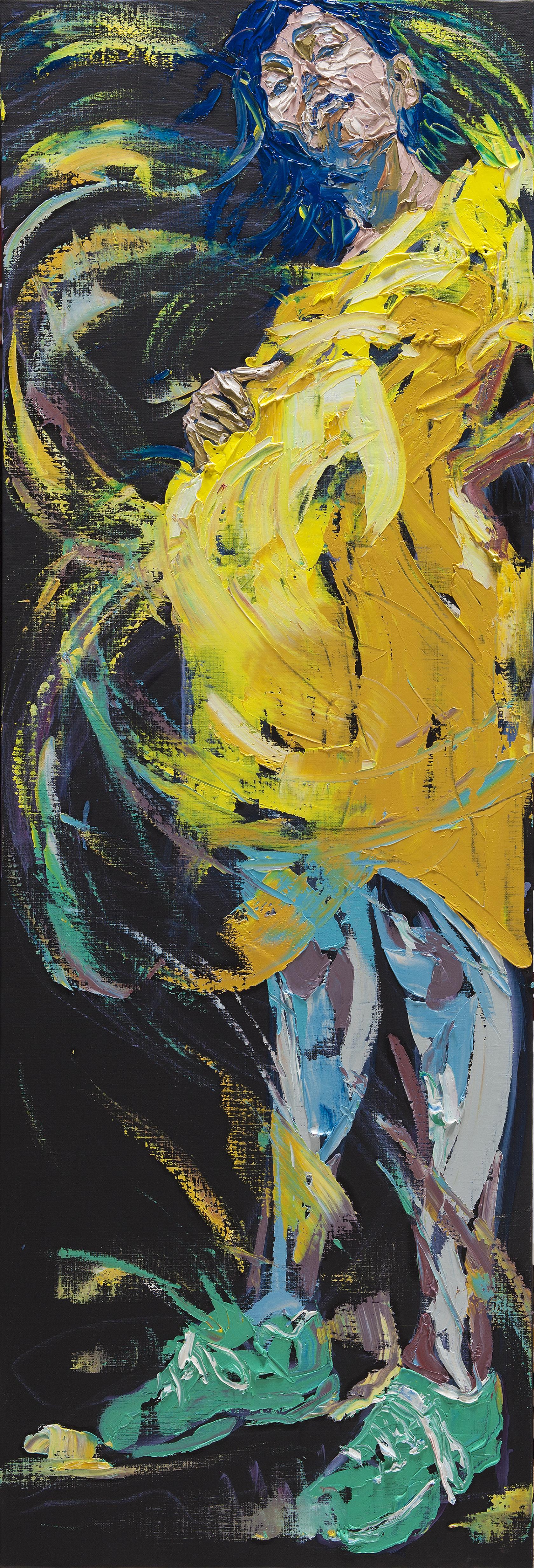 """Get Drunk #11""        ""취하라 #11""        180 cm x 60 cm       oil on canvas   2015"
