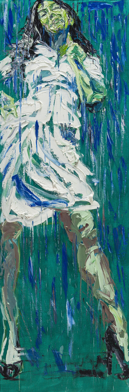 """Get Drunk #17""        ""취하라 #17""        180 cm x 60 cm       oil on canvas   2016"