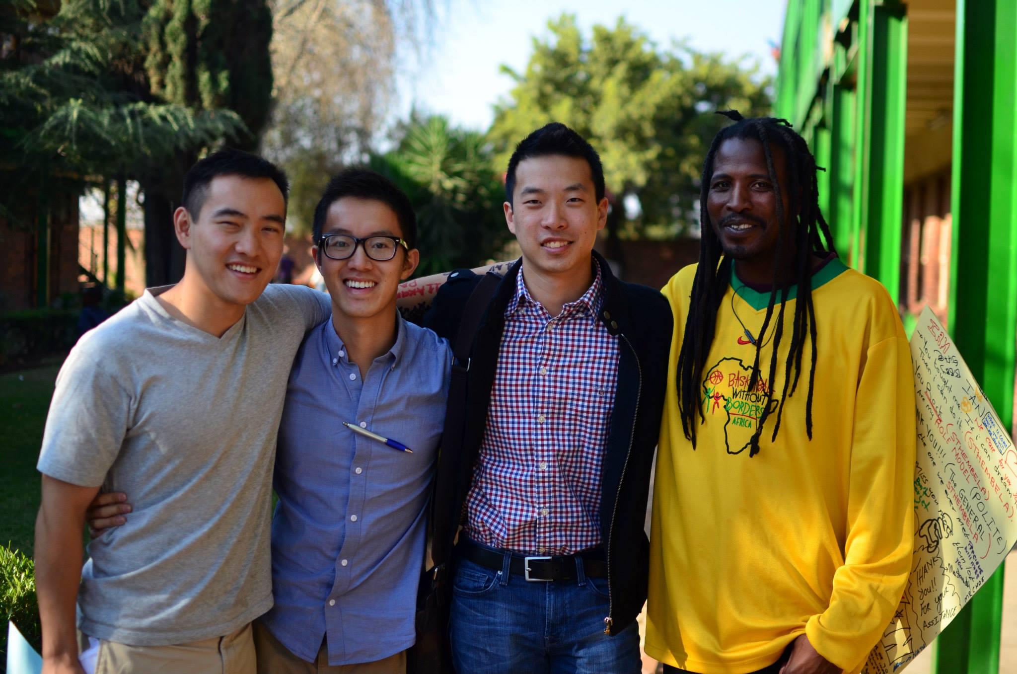 From left: Patrick, Dennis, Ian, Harry Nakeng.