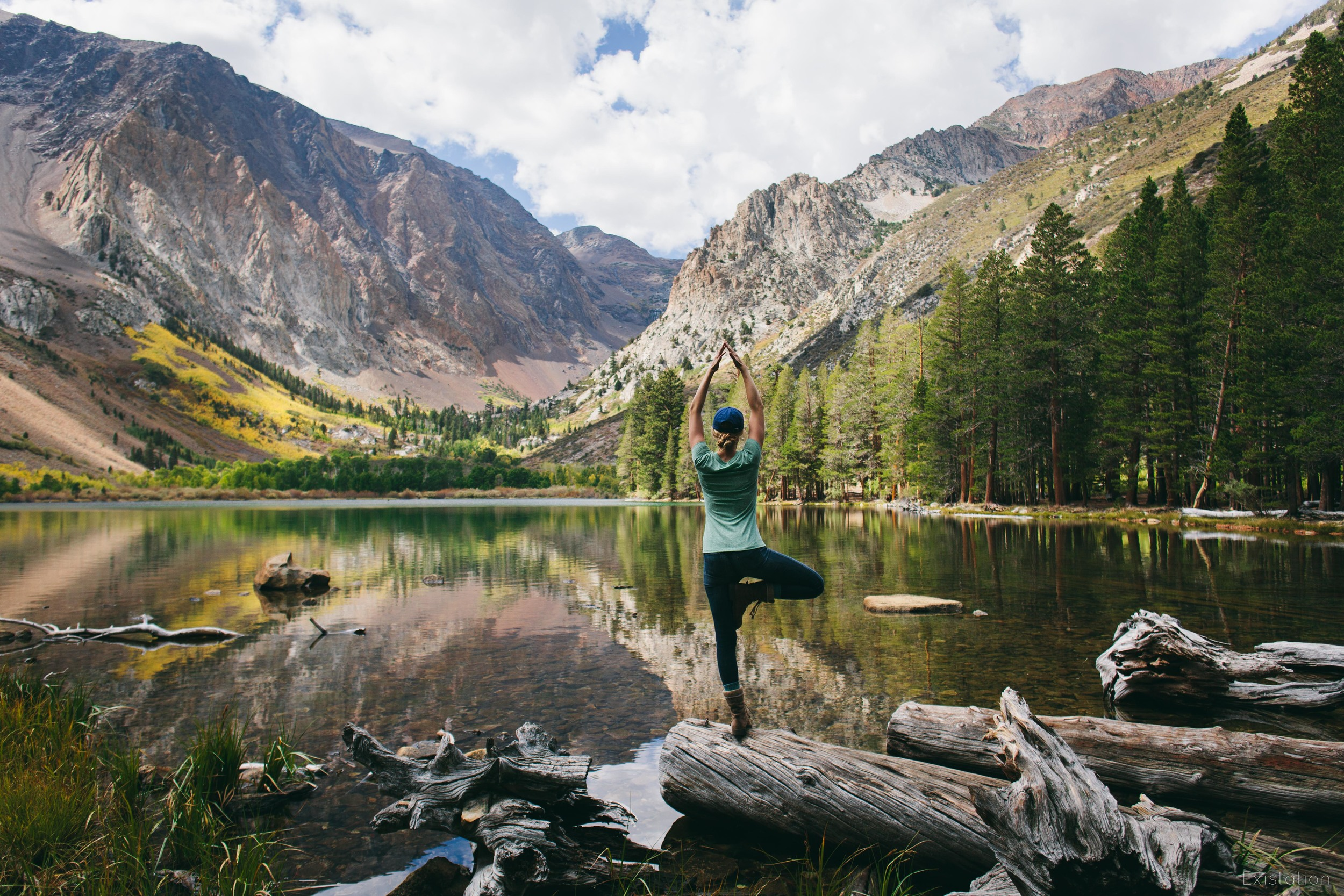 parker lake june lake tree pose