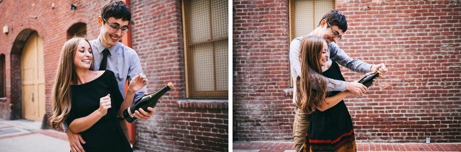 old town pasadena champagne engagement photography.jpg