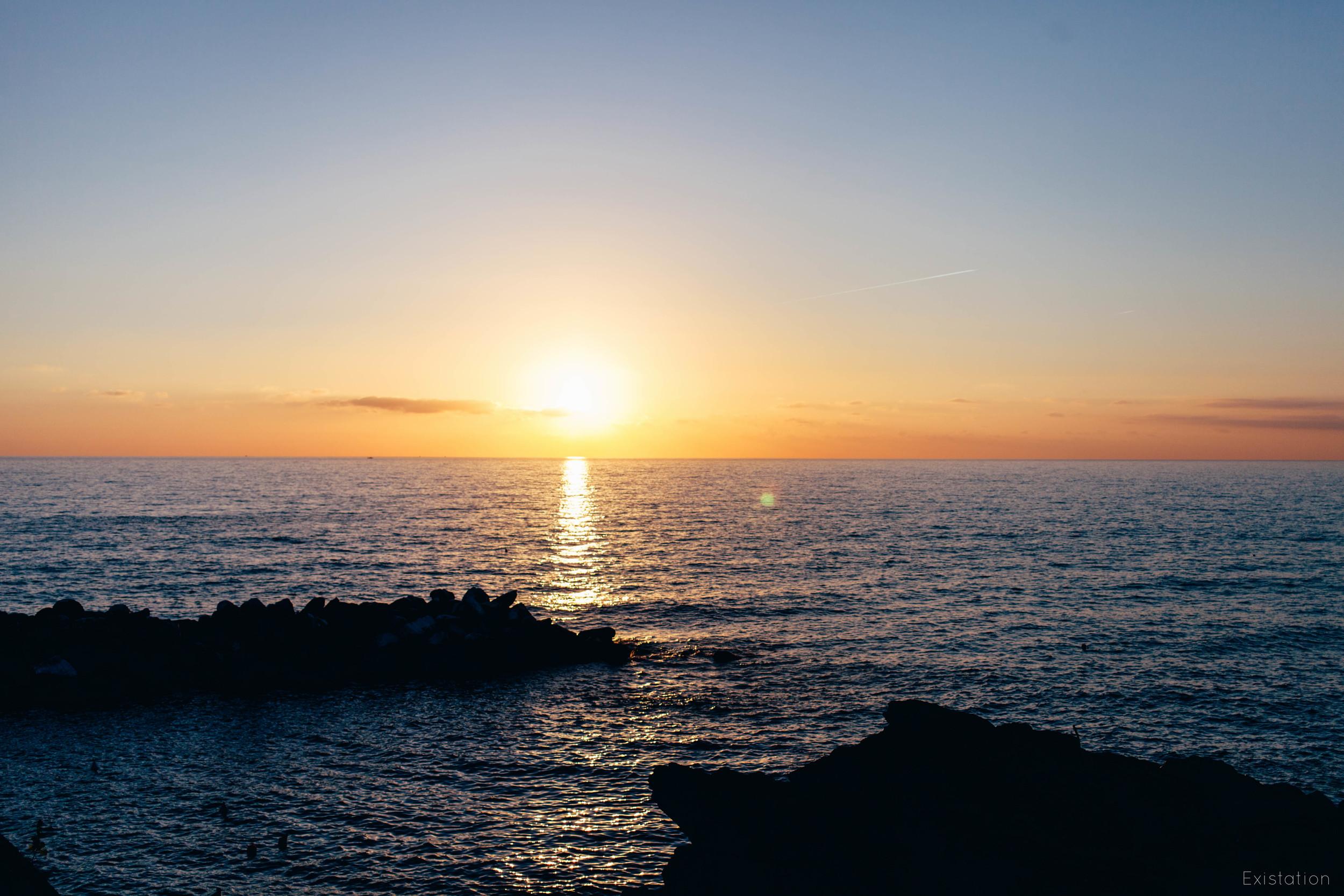 sunset cinque terra