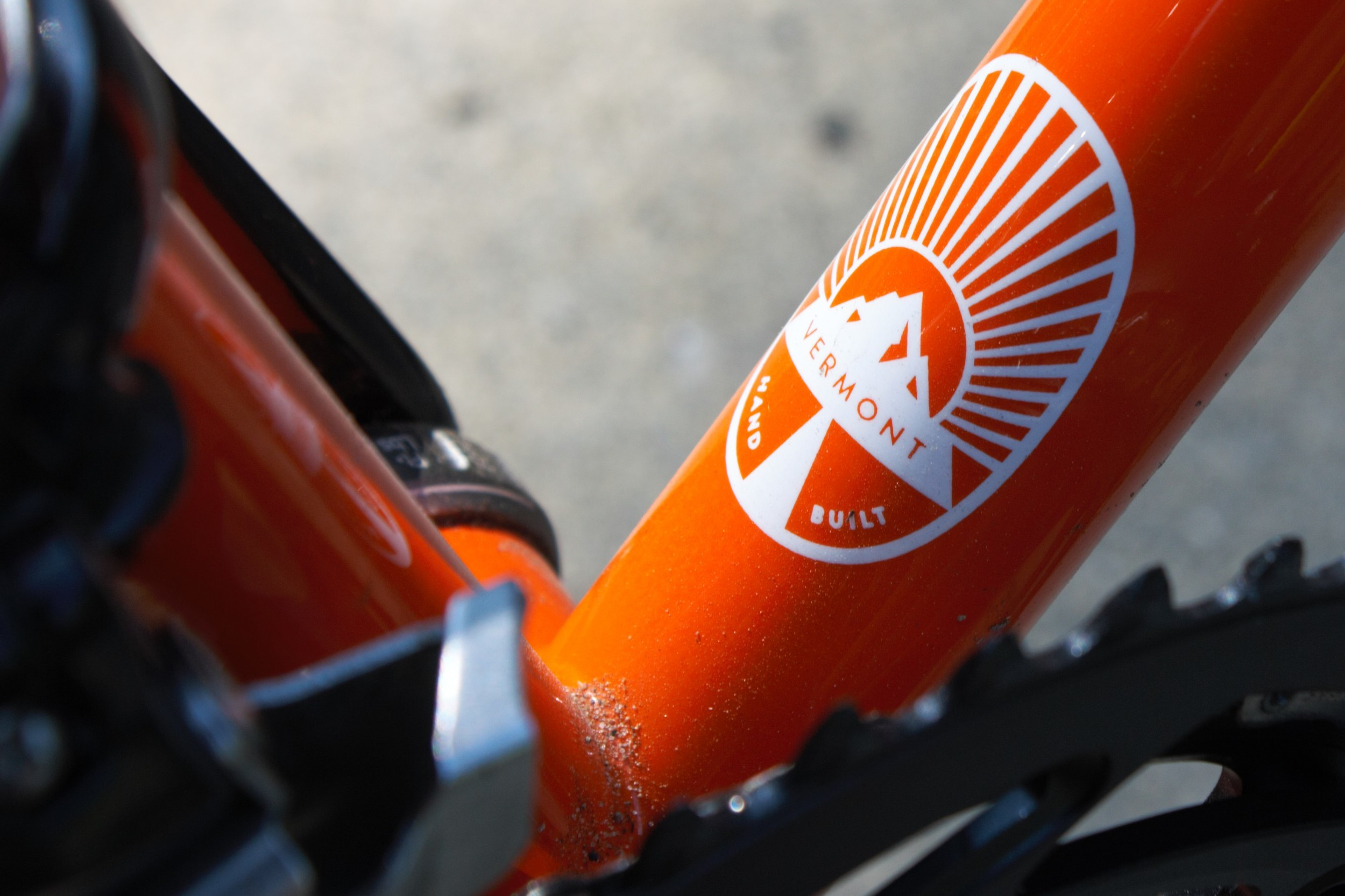 Down tube logo. Standard on all Seneca Cycle Works bicycles.