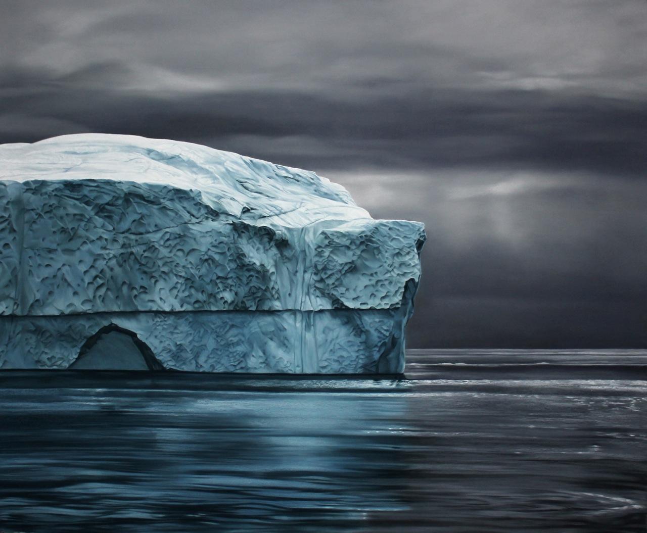 Greenland no.71, 50x60: Image courtesy of Zaria Forman