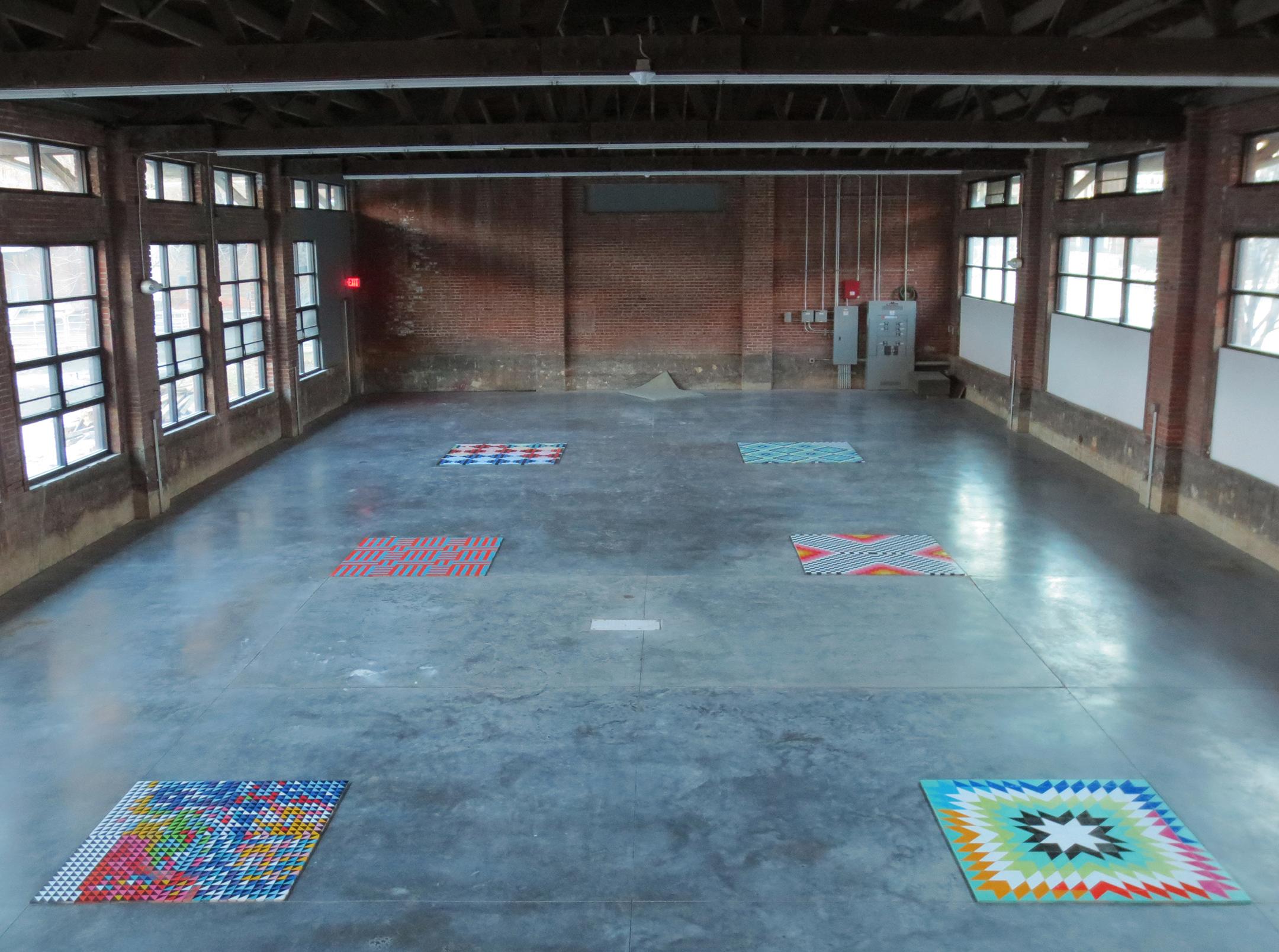 Tiles Installation, 2013, Okada Sculpture Facility, Bemis Center for Contemporary Art, Omaha, NE, Courtesy of the artist.