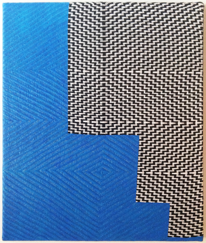 Untitled , 2014. Acrylic on handwoven textile. 18x15. Courtesy of the artist.