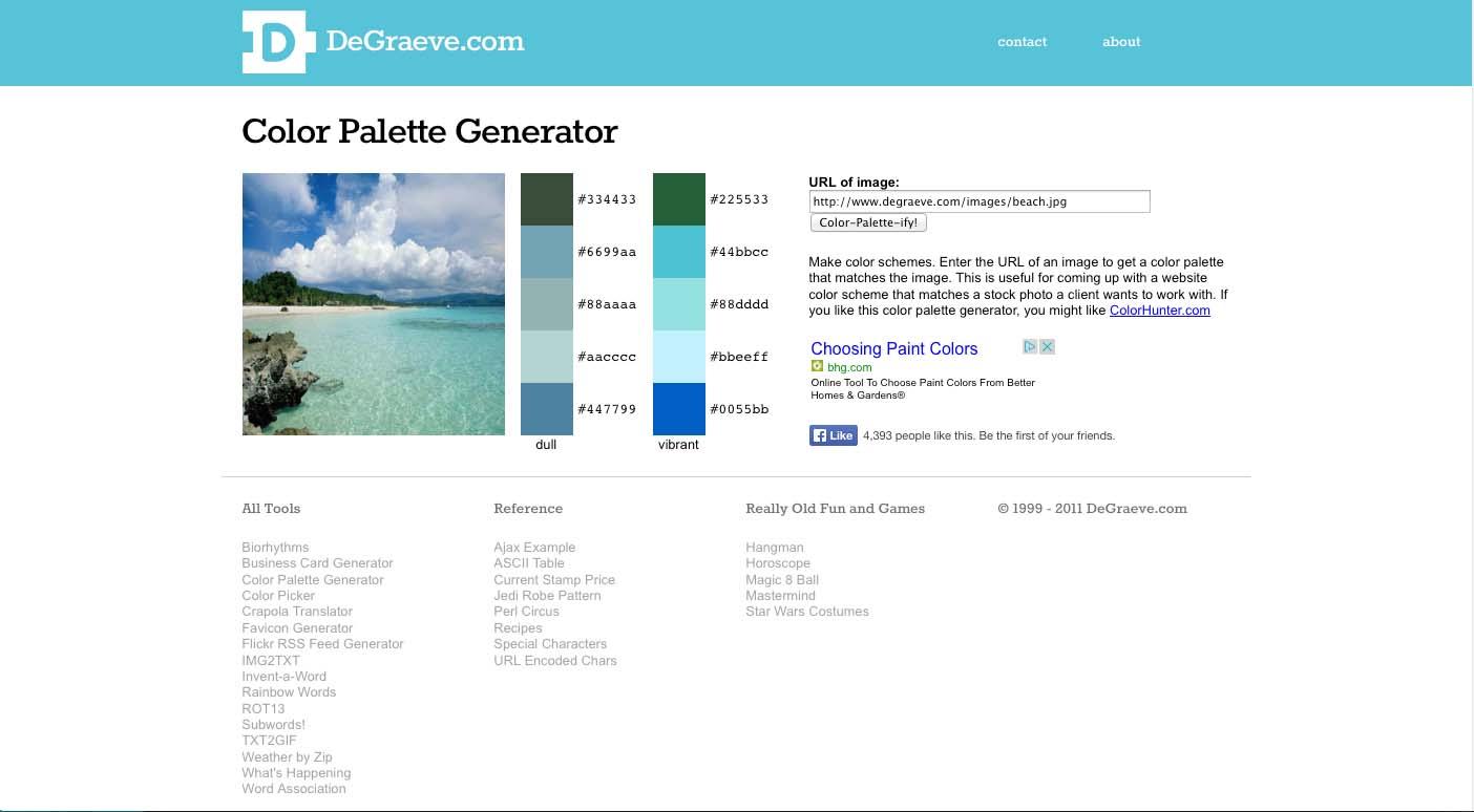 Image of Color Palette Generator
