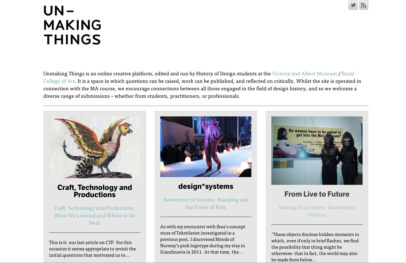 Images courtesy of Unmaking Things.