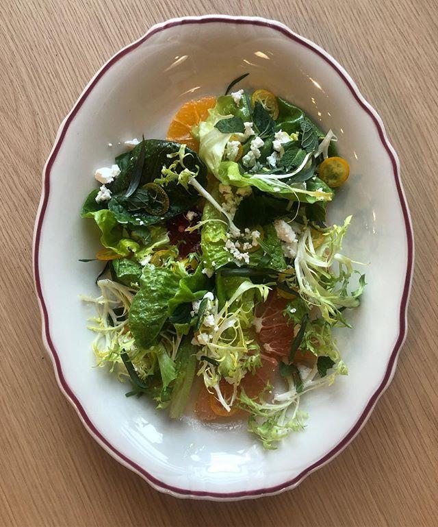 New menu item 🚨  Citrus salad, orange blossom vinaigrette, feta and herbs 🌿 @eatwithsafta
