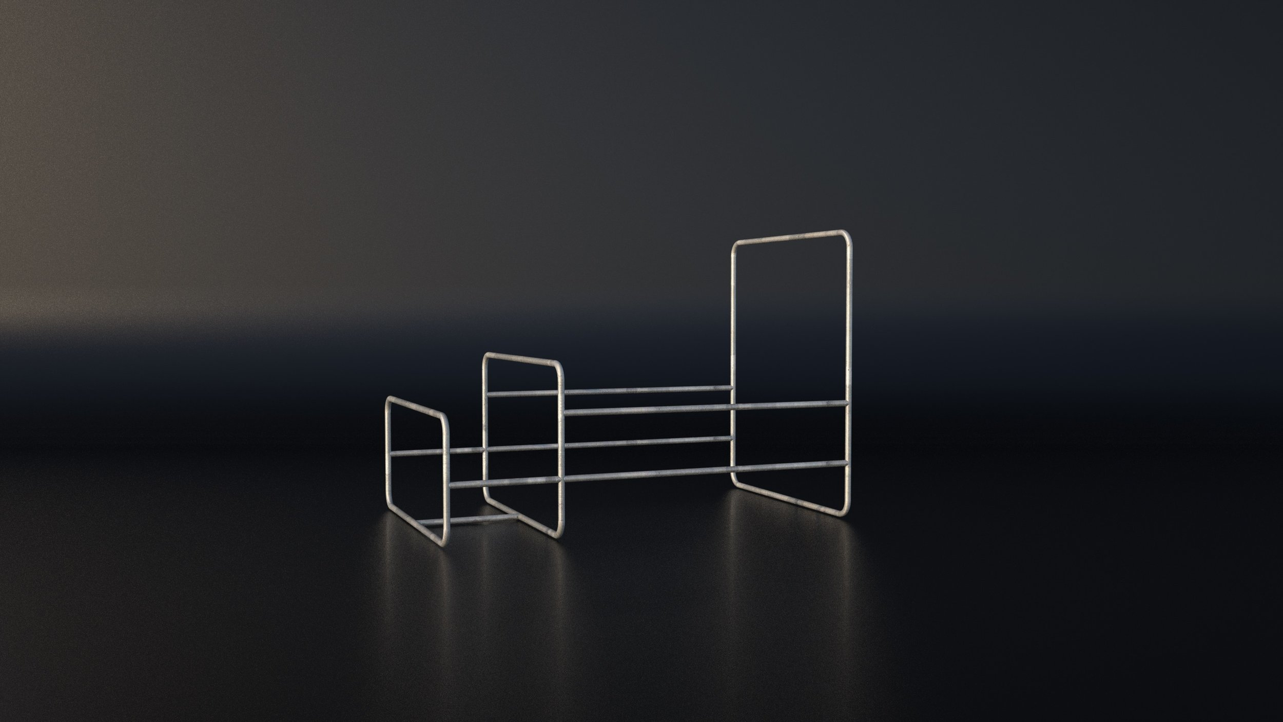 """RAILSET [#3 SMALL]    - small size version. Easy to handle, great for smaller groups.    Dimensions (H x L x W):  225 x 324 x 200 cm  Pipe Ø:  1-1/2"""" (48.3mm)  Weight:  Appr. 155kg"""