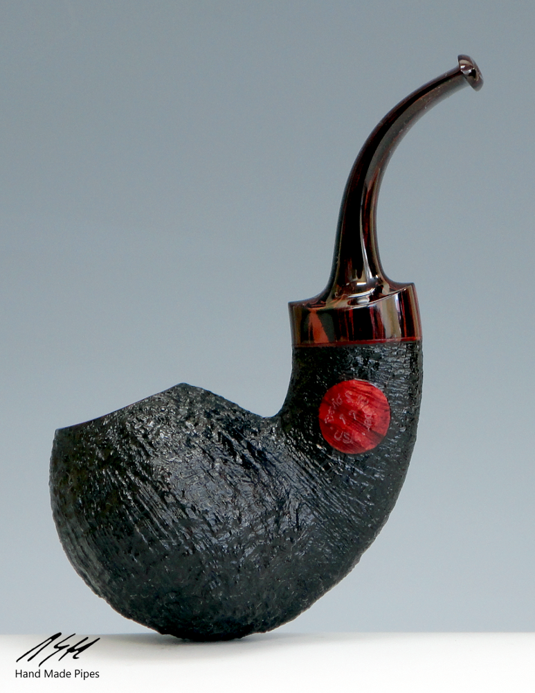 DSH Pipes Sandblasted Copperhead with Brindle Stem.png