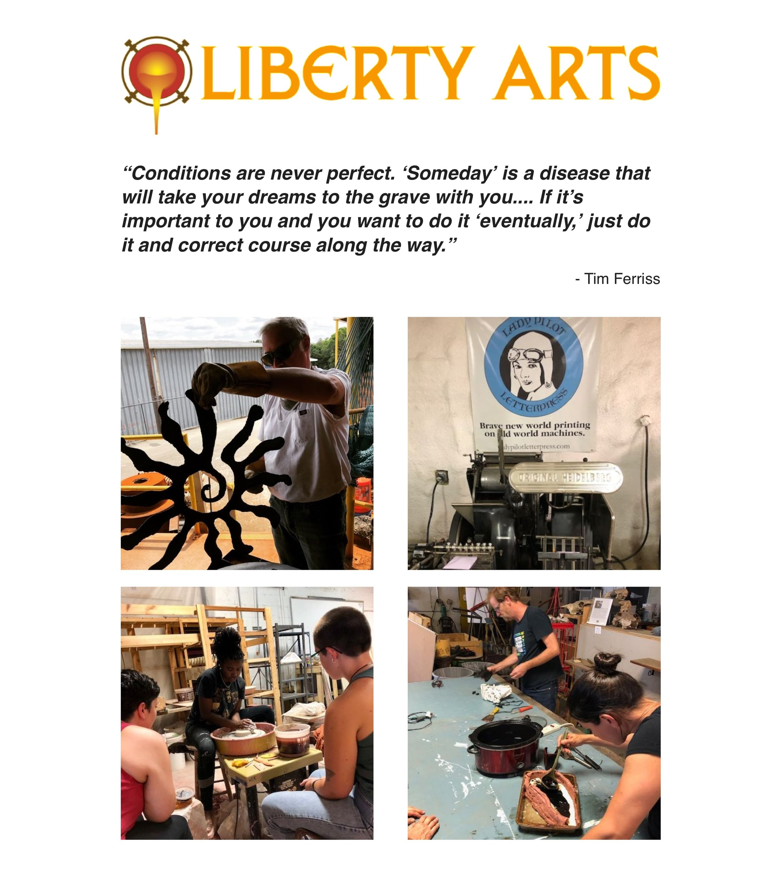 August 2019 - Eat, Dance, Create at Liberty Arts