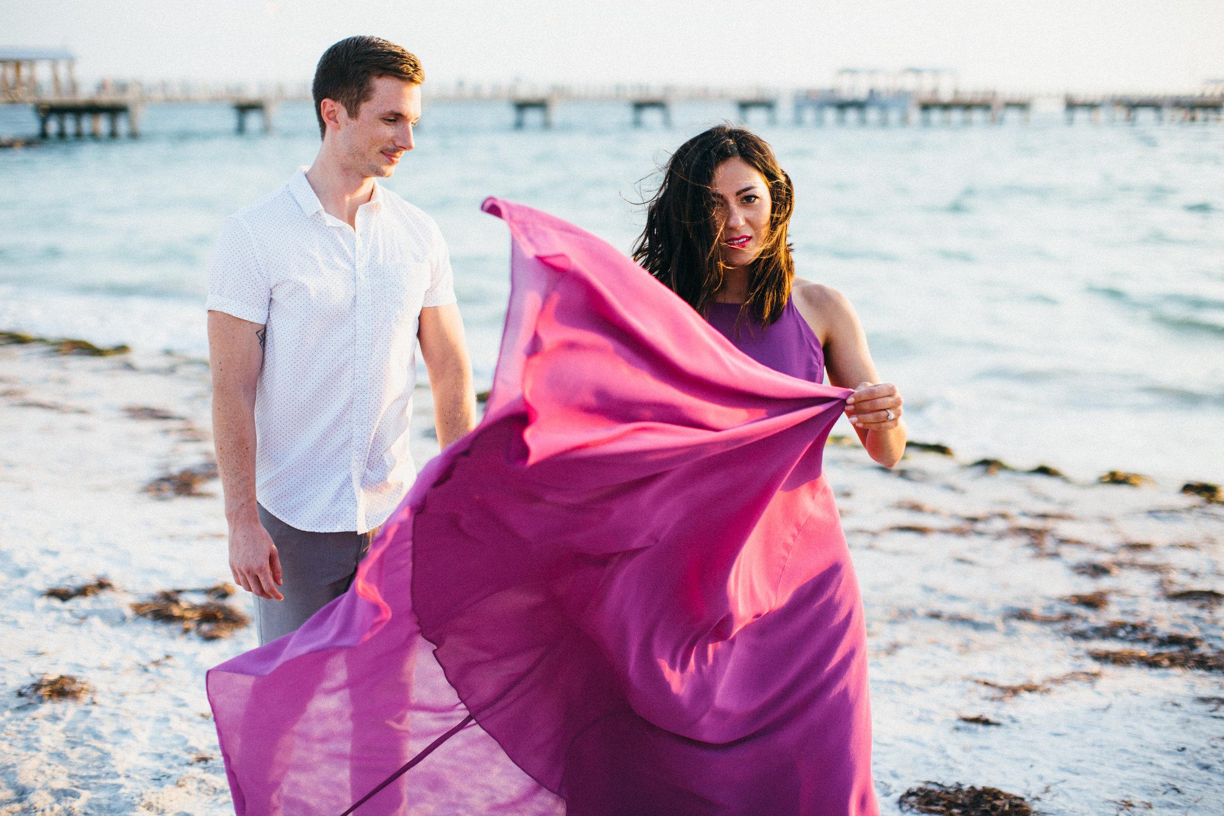 Priska & Russell | Engagement | Downtown St. Petersburg & Ft. De Soto, Florida | Benjamin Hewitt Photography