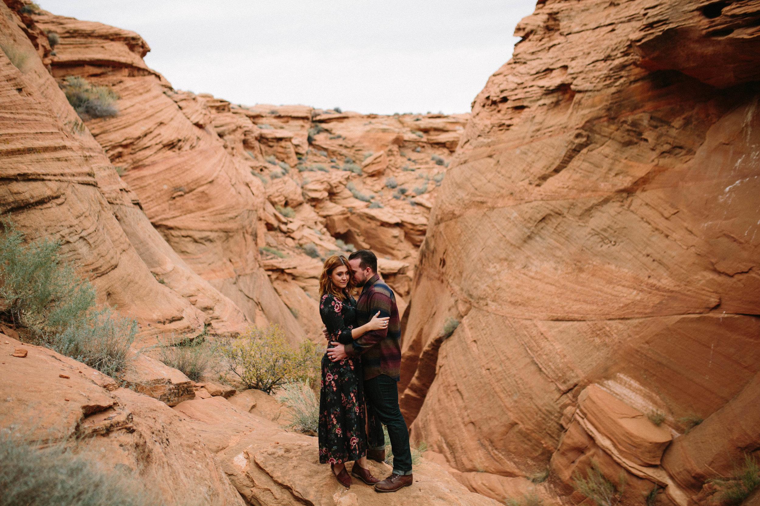 Arizona Engagement Session   Benjamin Hewitt Photography   Antelope Canyon - Waterhole Canyon