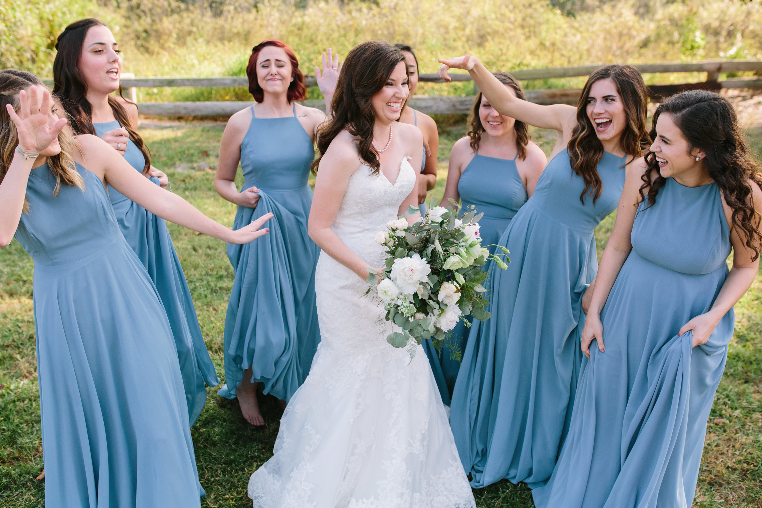 Bridesmaids   Florida Rustic Barn Weddings   Plant City, Florida Wedding Photography   Benjamin Hewitt Photographer