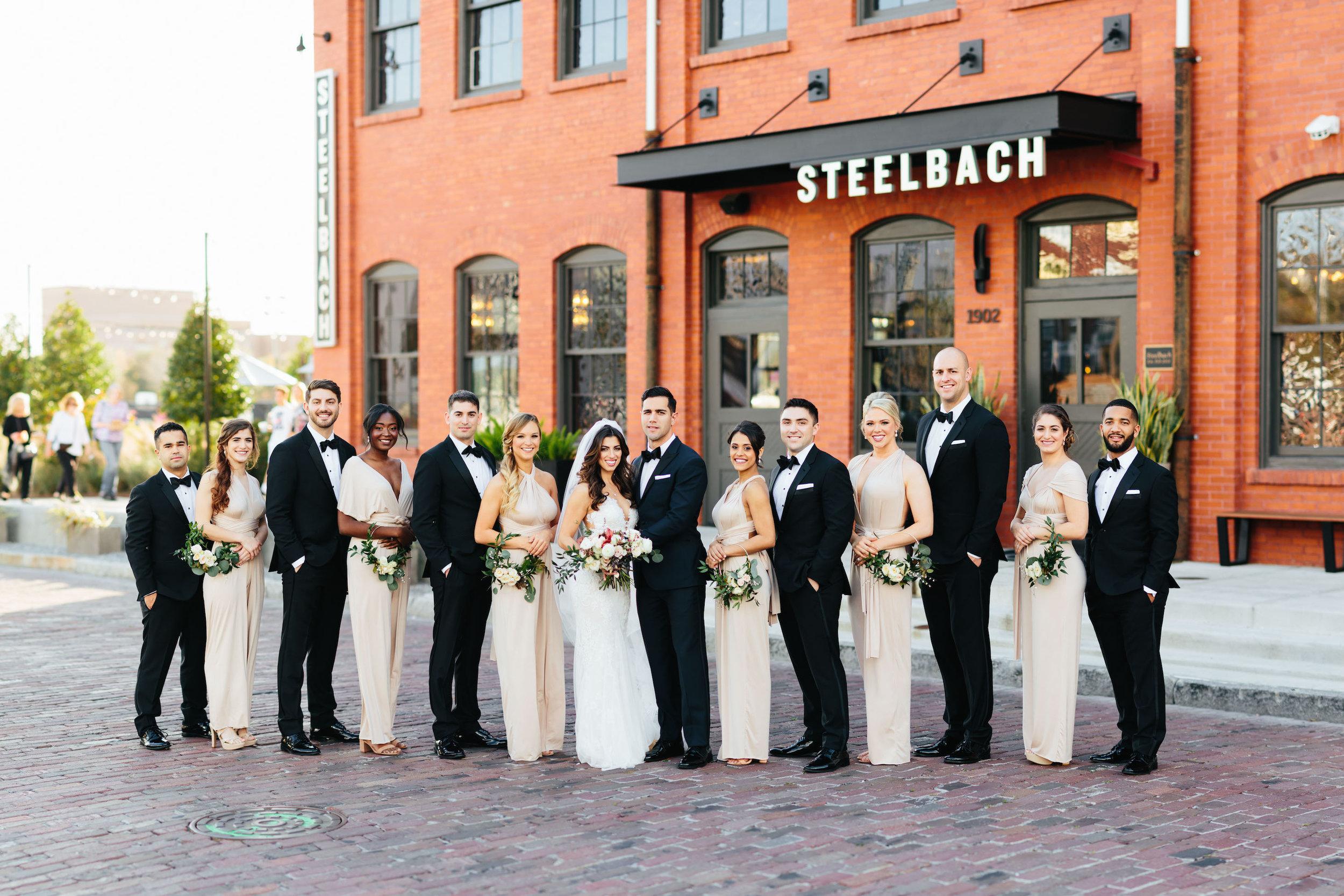 Full Bridal Party Photo Armature Works Wedding