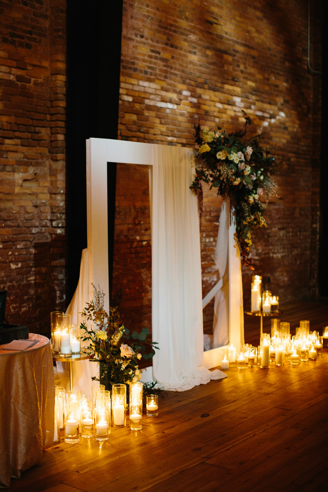 Armature Works Tampa Wedding Ceremony Altar