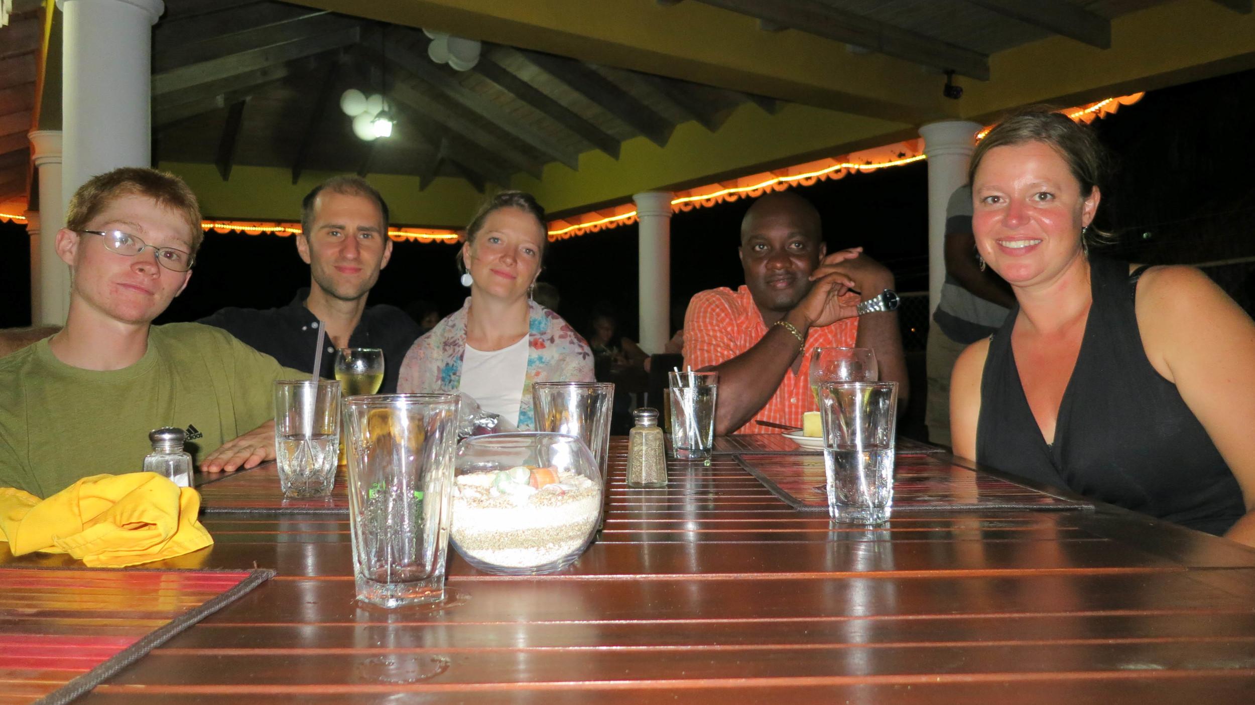 Shale Hunter, Tom Miller, Nuin-Tara Key, Marlin Nanyton, Annie Von Burg at Paradise Beach Hotel Friday BBQ