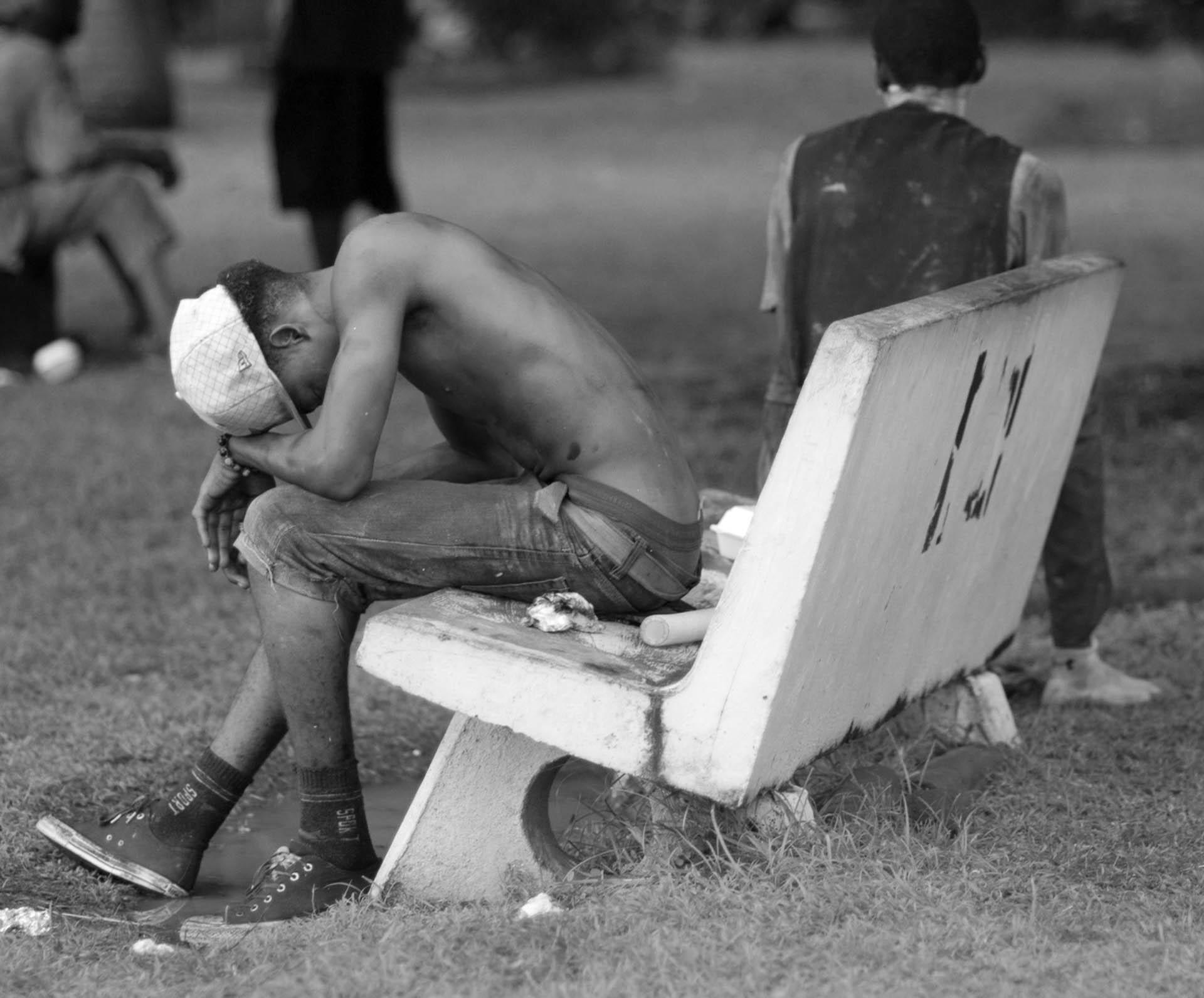 A player takes a rest- Video Still, Tom Miller