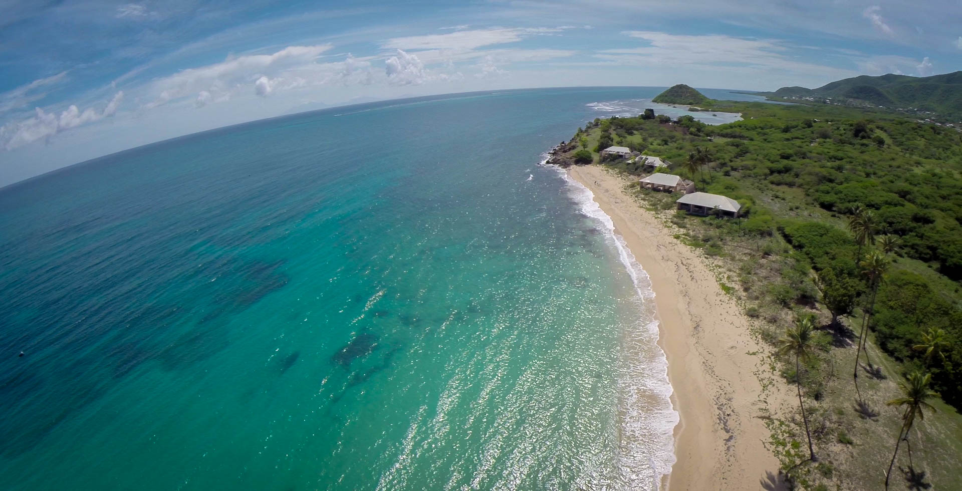 Morris Bay Beach, Antigua.  Quadcopter Still - Tom Miller