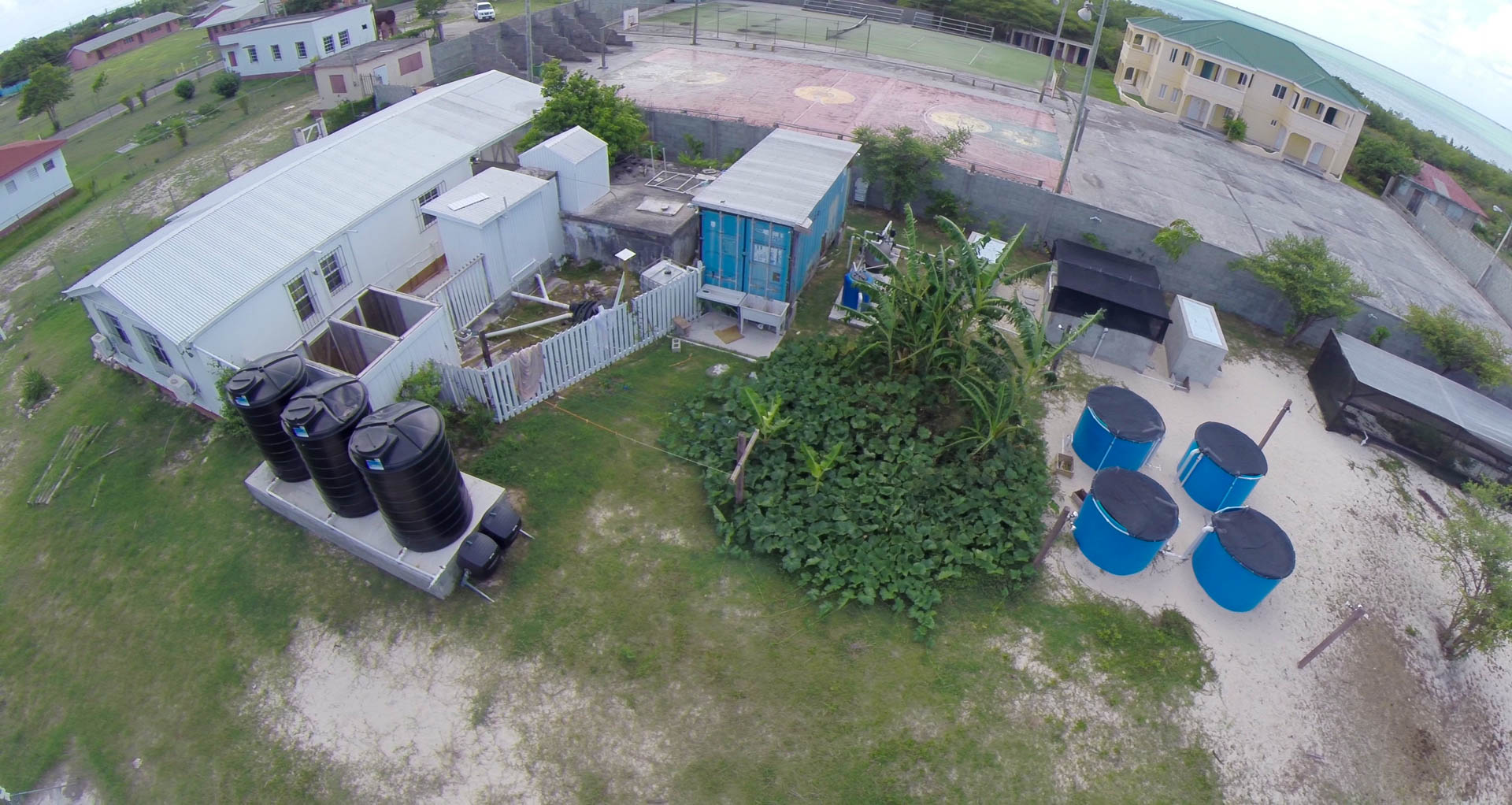 Part of the Barbuda Research Complex - Quadcopter Still, Tom Miller