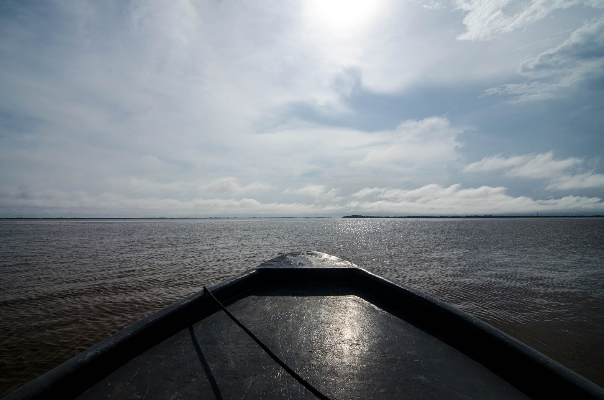 Panga, Bluefields Lagoon - photo, Tom Miller