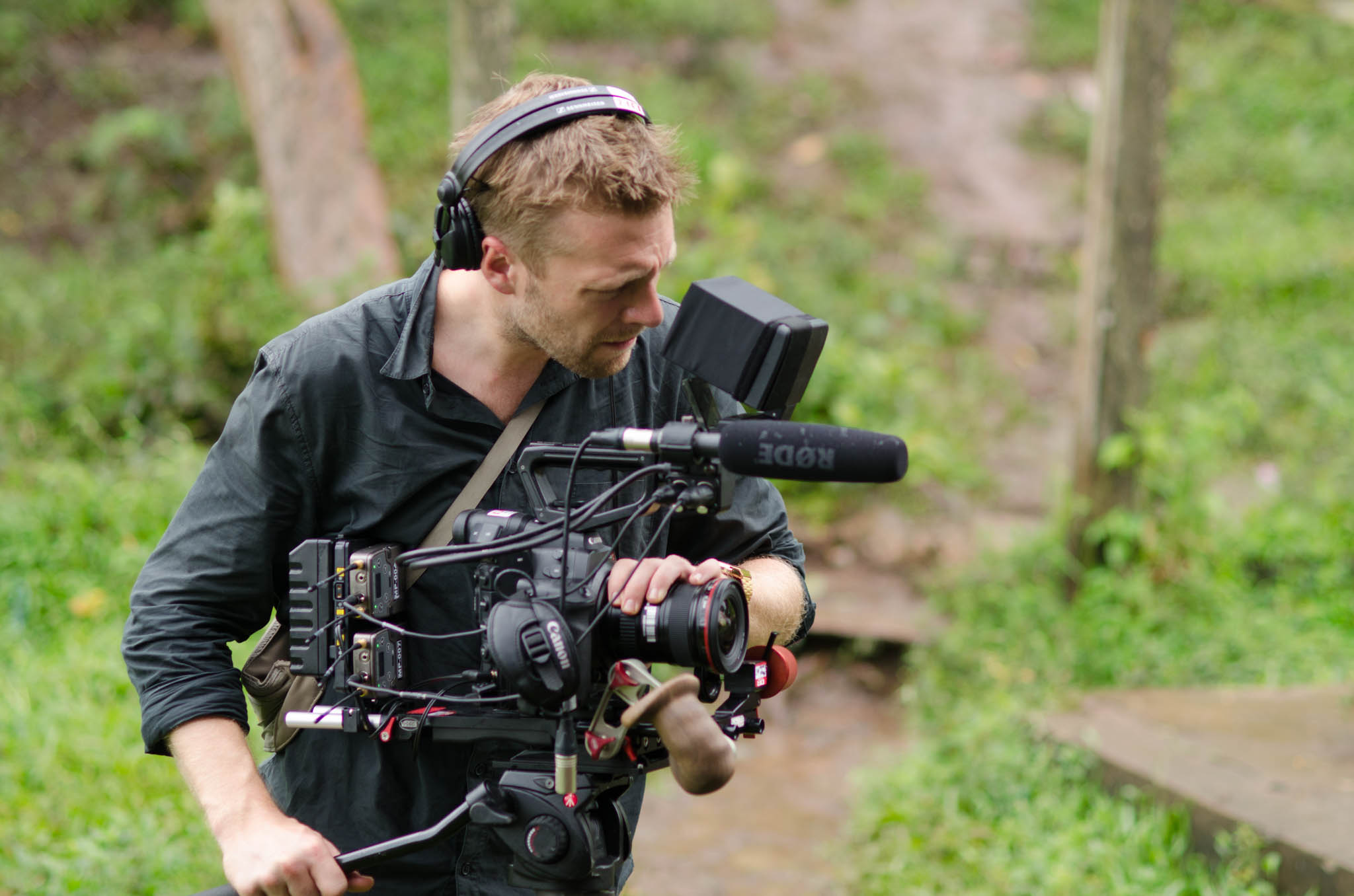 A member of the Danish film crew - photo, Tom Miller
