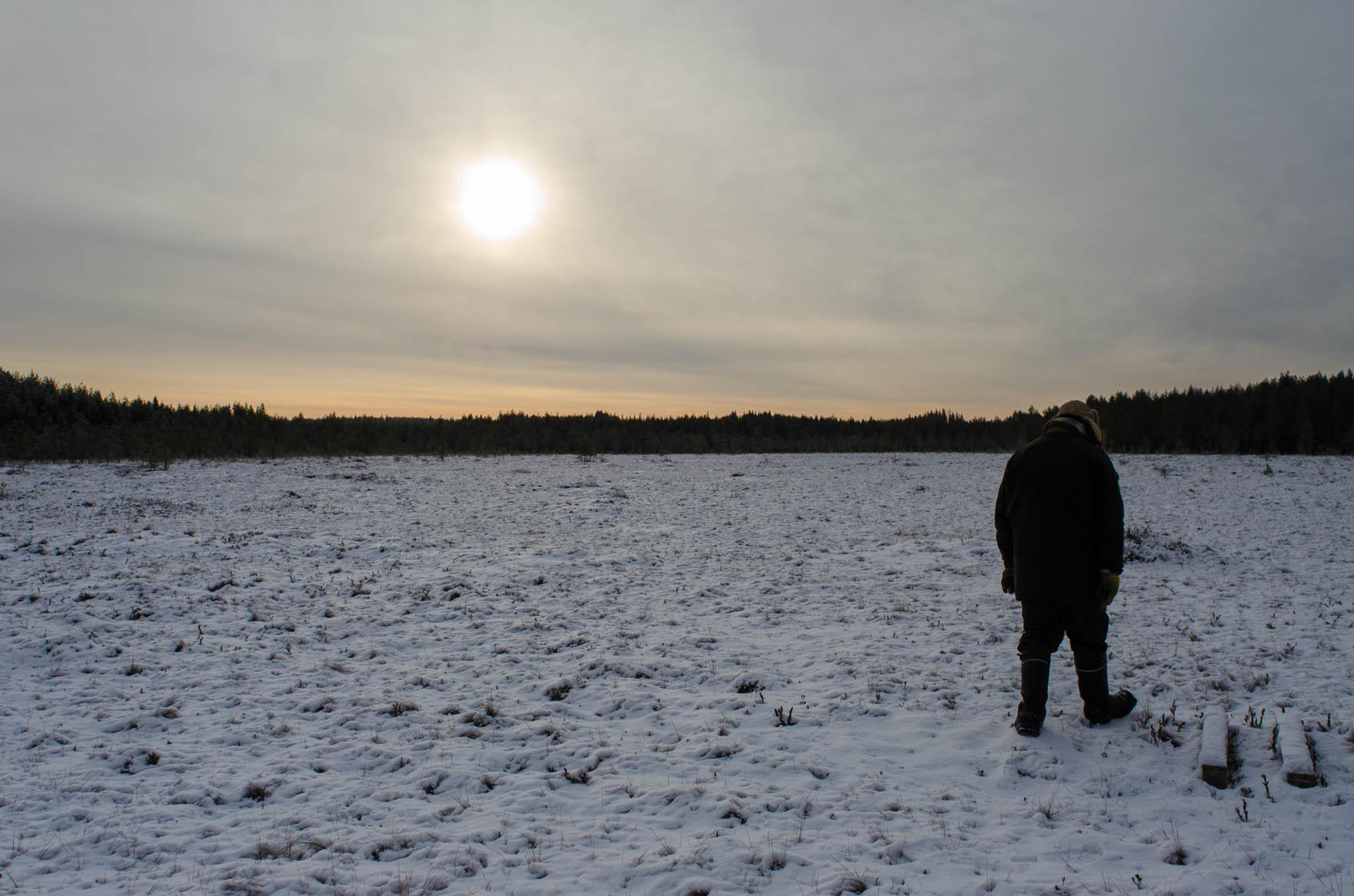 Tero Mustonen, at Vehkasua marshmire - photo, Tom Miller