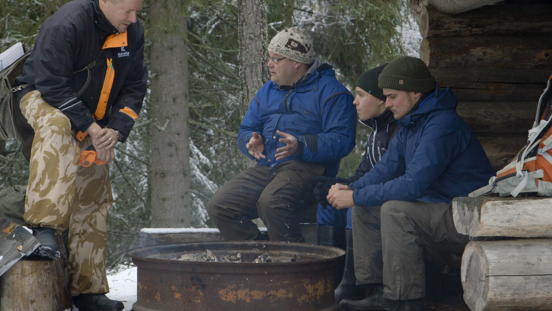 Tarmo, Tero, and students, Ilkka & Joose - video still, Tom Miller