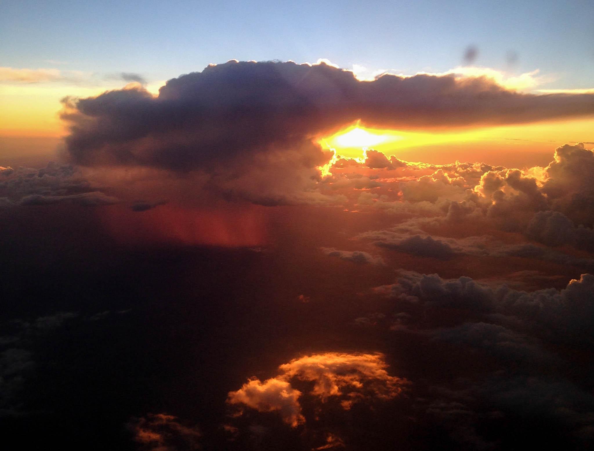 Sunset and rain, Albuquerque, NM