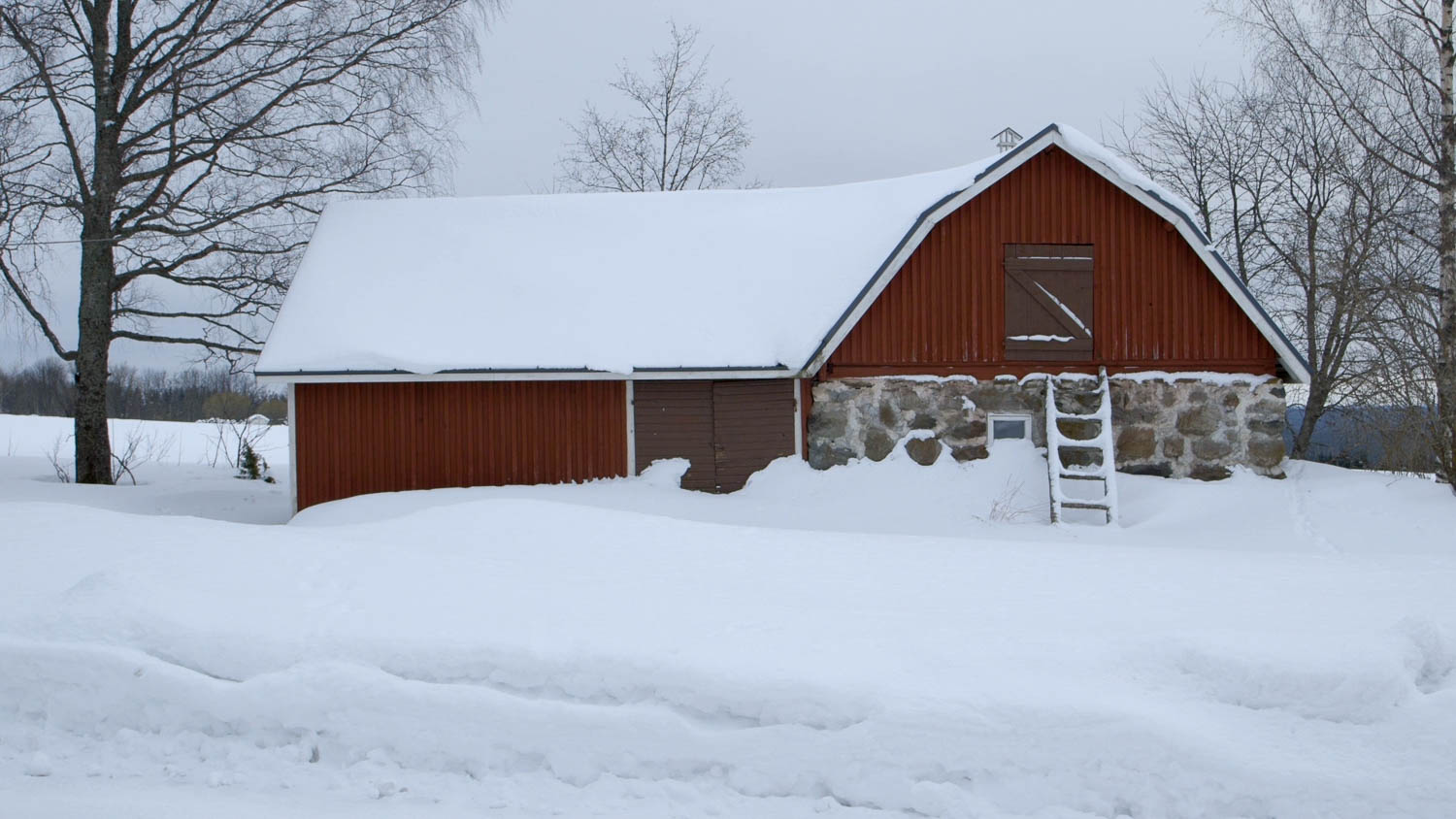 Following rain and a warm January, h eavy snowfalls came in February,