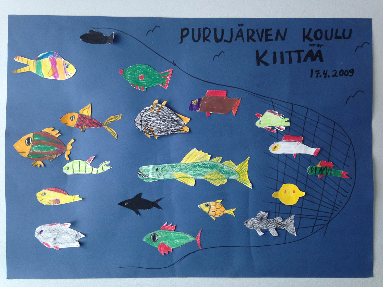 Poster at the Puruvesi fishing office