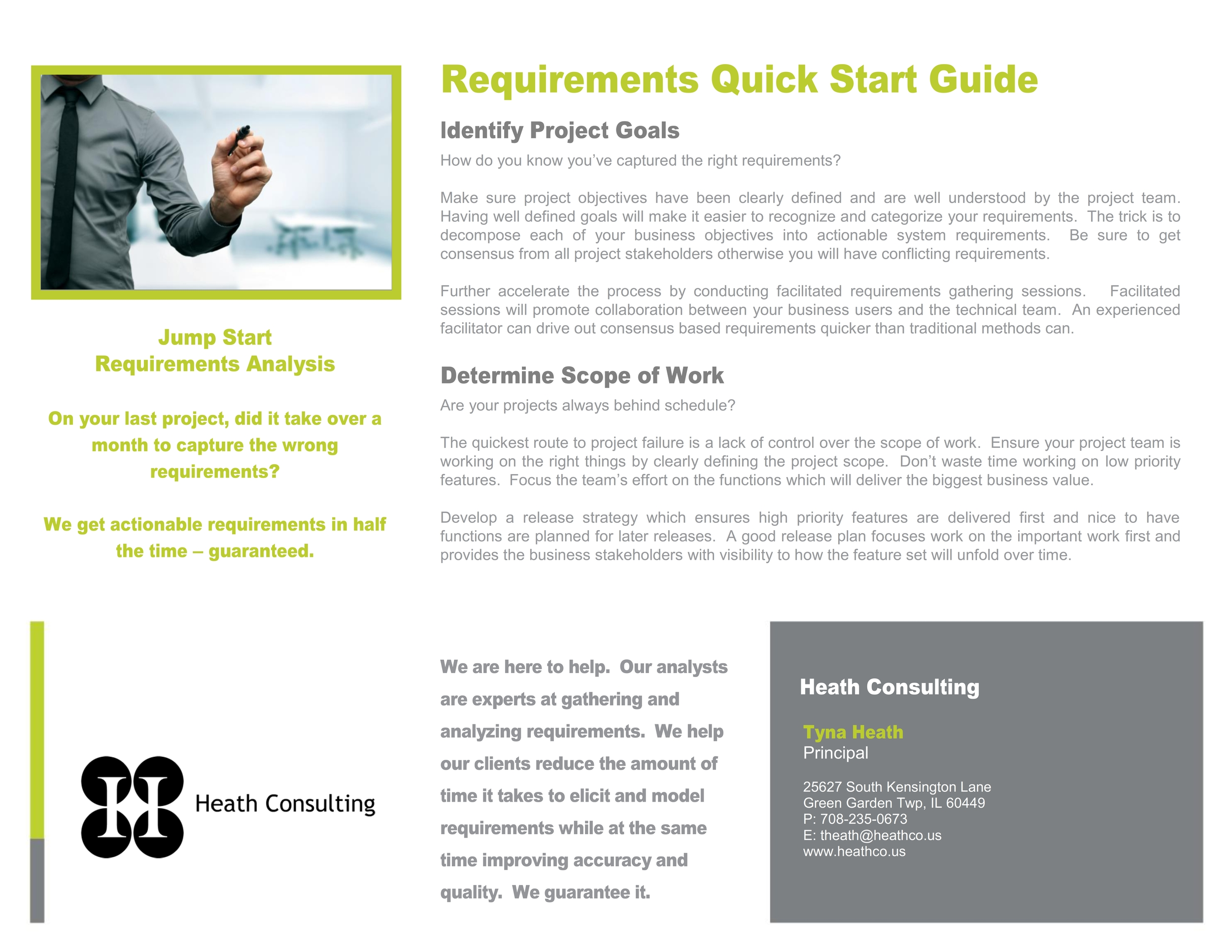 Click to view Requirements Quick Start Guide