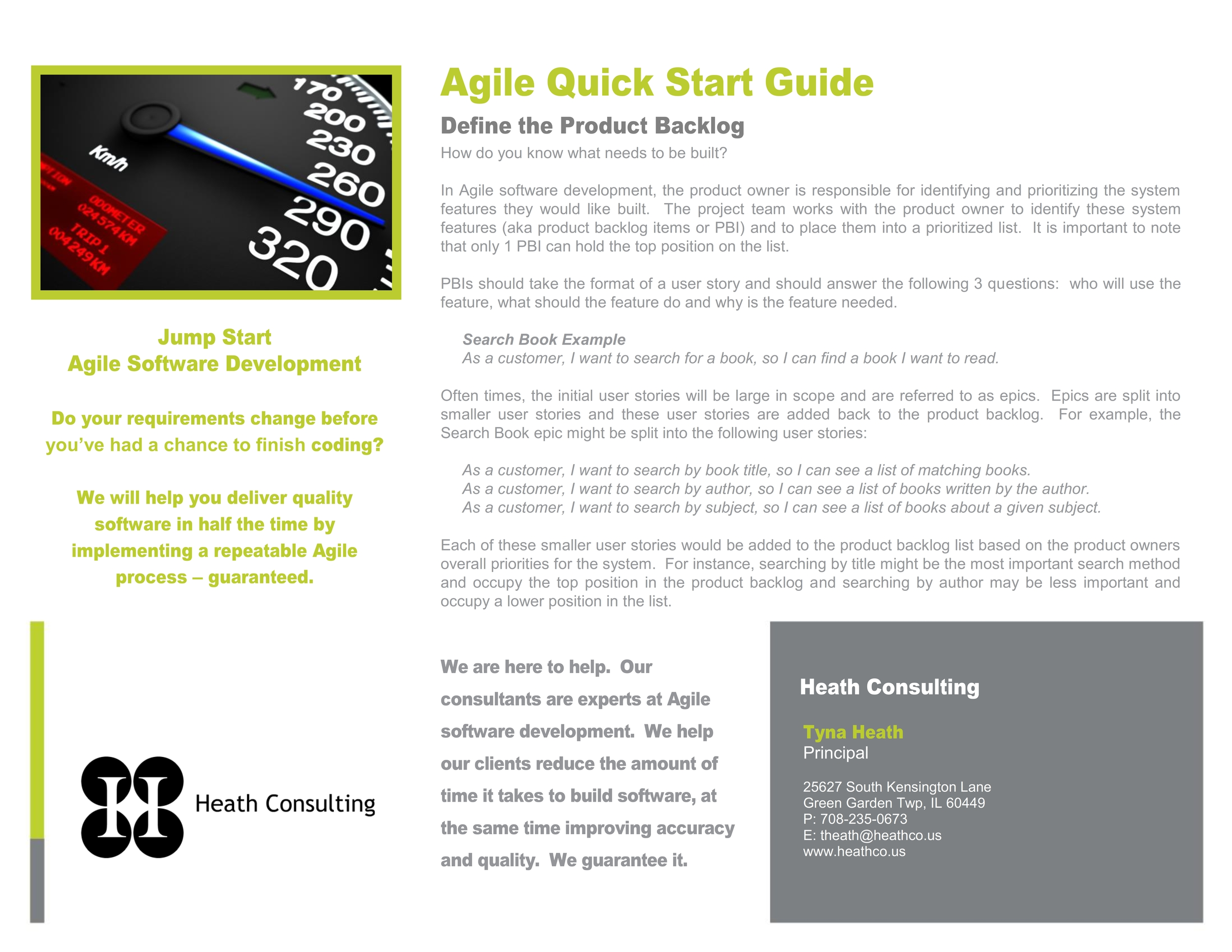 Click to view Agile Quick Start Guide