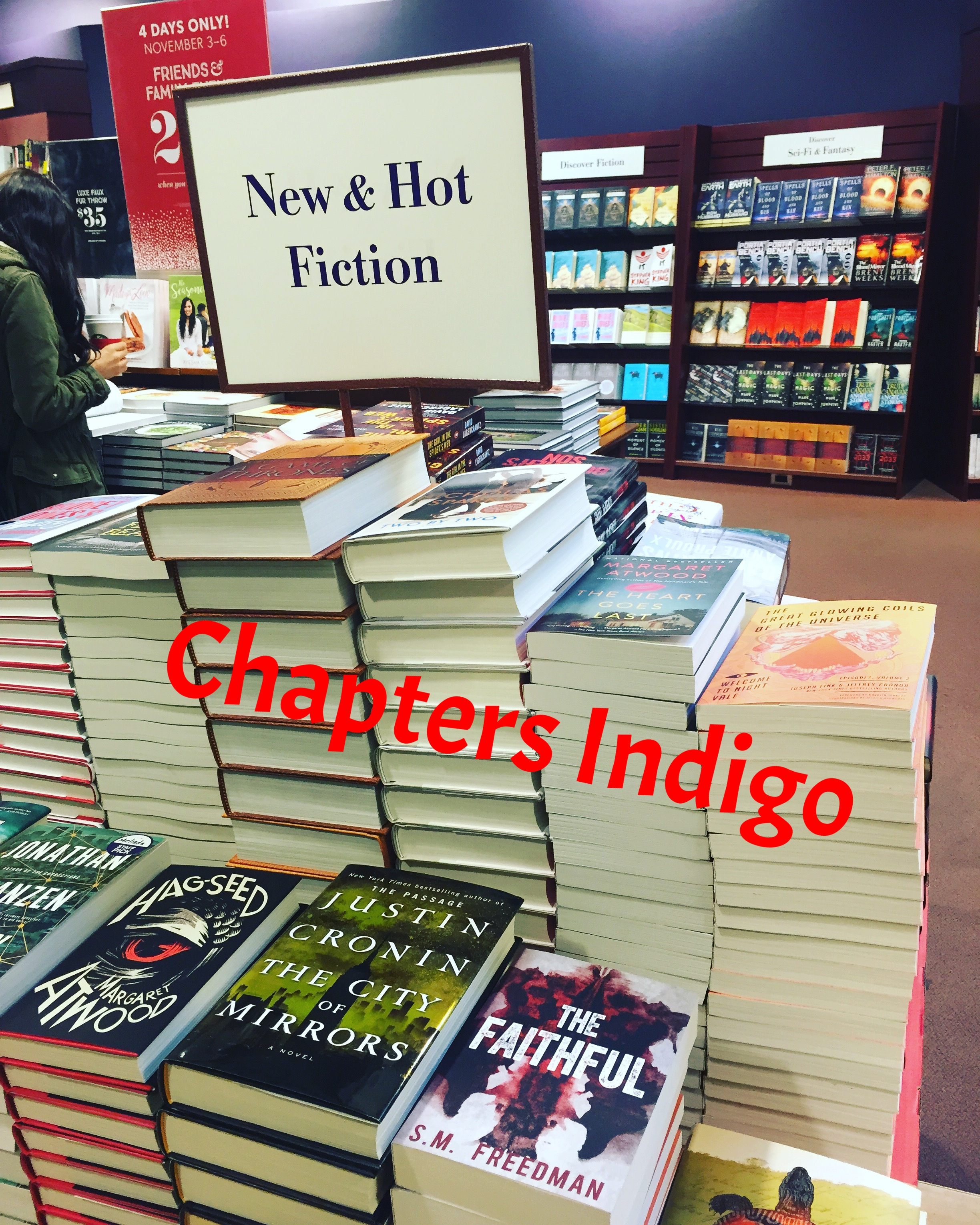 There is some hot fiction at Chapters Indigo