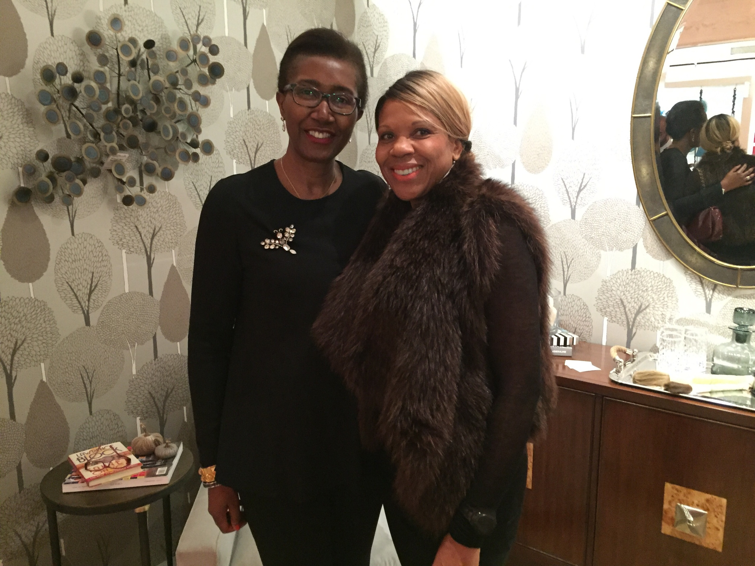 Girlfriend Charmaine Campbell stopped by - loving that fox gilet!