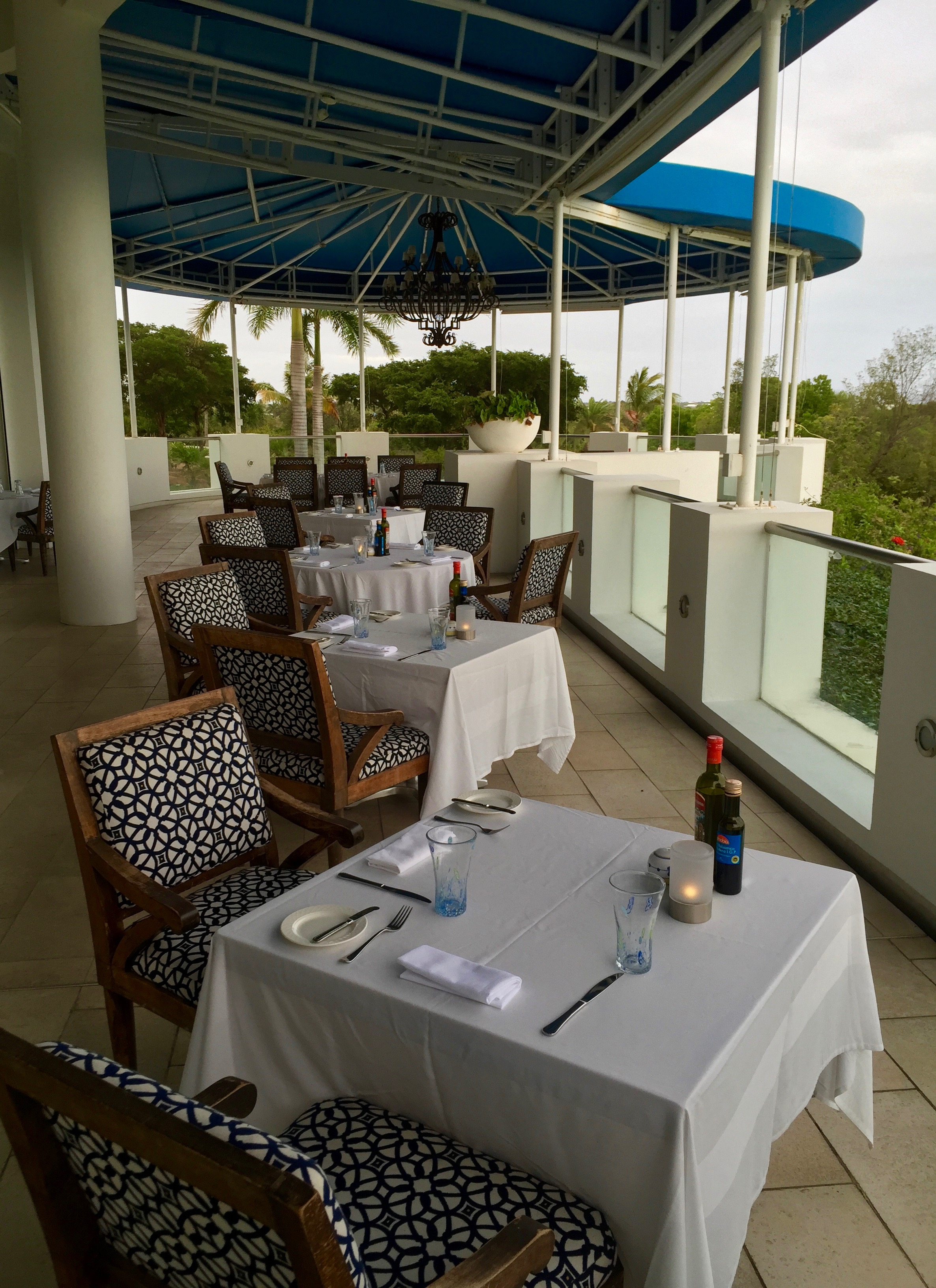 Dining at Italia, the golf club's restaurant