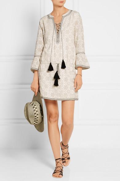 Talitha embroidered mini dress