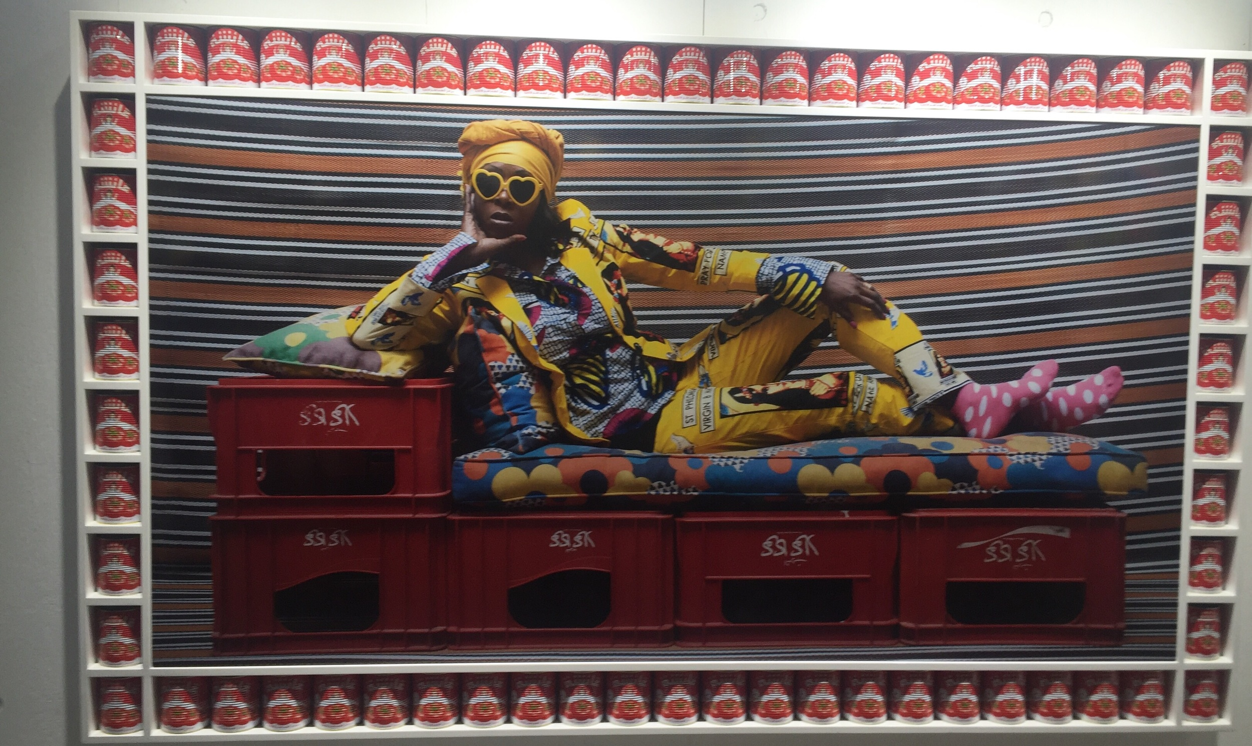 Hassan Hajjaj - Veronique XL - yep that's a frame made entirely from tin cans