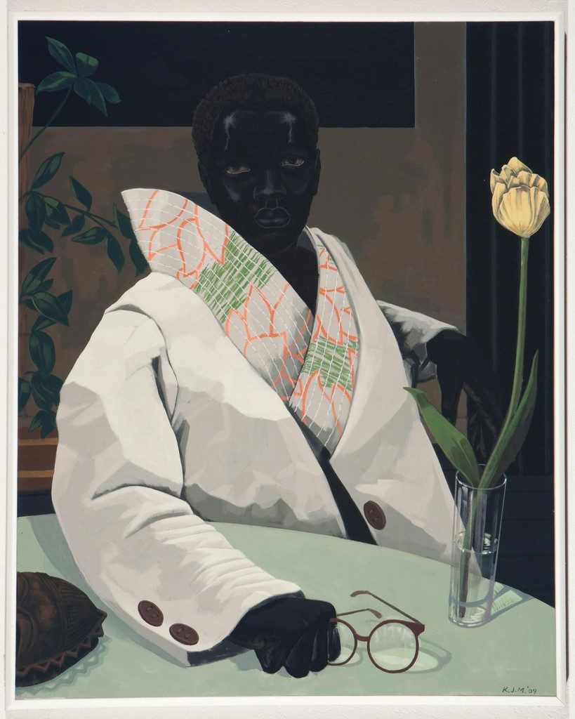 Portrait of a Curator (in memory of Beryl W) - this is the first portrait by Kerry James Marshall I saw and just thought - wow a masterpiece!